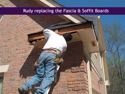 Rudy replacing fascia & soffit boards